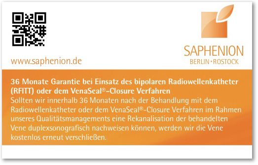 Garantiekarte-Kramfadernbehandlung-Venaseal-o-Radiowelle-