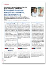 Endovenöse Behandlungsstrategien nach ineffektiver Laserablationstherapie