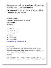Endozystische-Therapie-Baker–Zyste