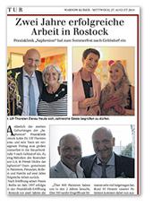 Warnow Kurier: 2 Jahre Saphenion Rostock