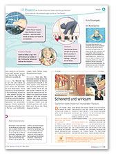 Artikel Berliner Zeitung schöngesund Beilage, Thema Krampfadern, März 2016