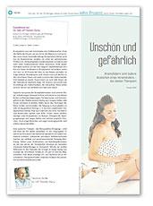 Editorial Berliner Zeitung schöngesund Beilage, Thema Krampfadern, März 2016