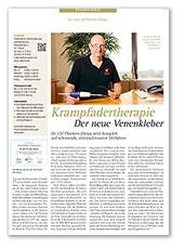 Berliner Morgenpost, Ärztemagazin, Krampfadertherapie - Der neue Venenkleber, April 2016