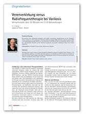 Venenverklebung versus Radiofrequenztherapie bei Varikosis