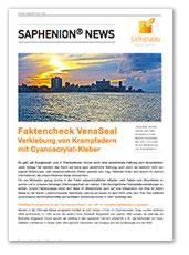 Faktencheck Venaseal Verklebung von Krampfadern  mit Cyanoacrylat-Kleber