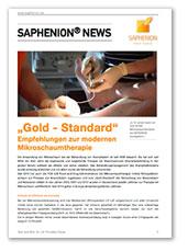 """""""Gold-Standard"""" - Empfehlungen zur modernen Mikroschaumtherapie"""